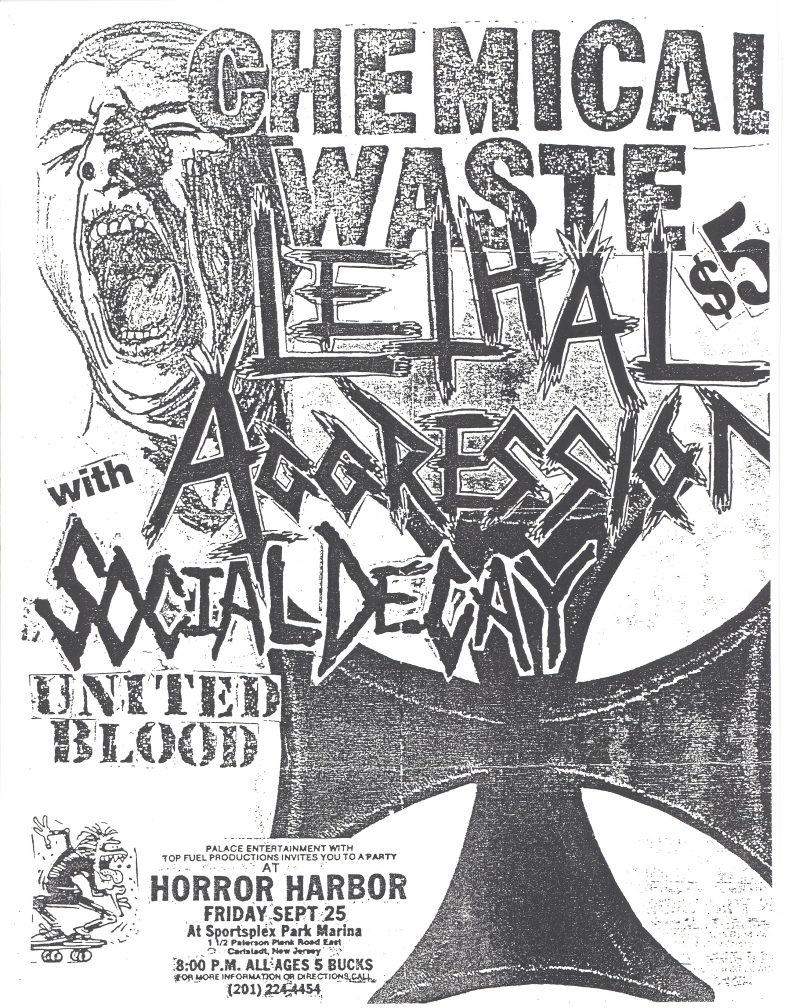 Chemical Waste-Lethal Aggression-Social Decay-United Blood @ Carlsladt NJ 9-25-87