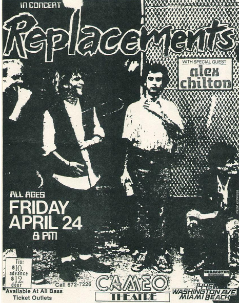 The Replacements-Alex Chilton @ Miami FL 4-24-87