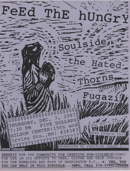 Soul Side-The Hated-Thorns-Fugazi @ Washington DC 12-3-87