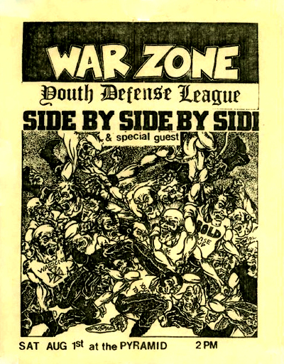 War Zone-Youth Defense League-Side By Side @ New York City NY 8-1-87