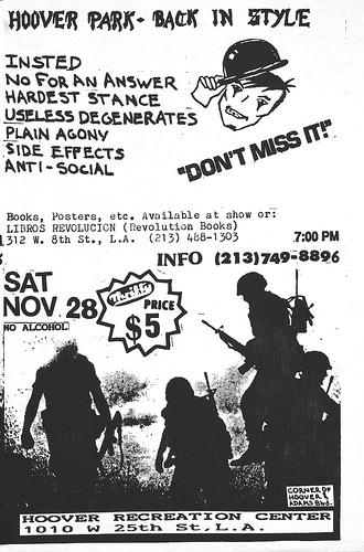 Insted-No For An Answer-Hard Stance-Useless Degenerates-Plain Agony-Side Effects-Anti Social @ Palo Alto CA 11-28-87