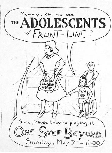 Adolescents-Frontline @ San Jose CA 5-3-87