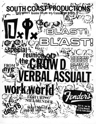 DI-Bl'ast!-The Crowd-Verbal Assault-Work World @ Long Beach CA 12-18-87