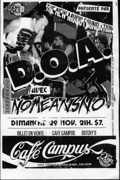 DOA-No Means No @ Montreal Canada 11-29-87