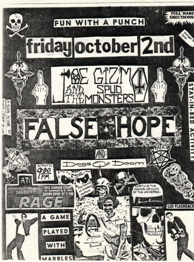 False Hope-Dogs Of Doom @ Cleveland OH 10-2-87