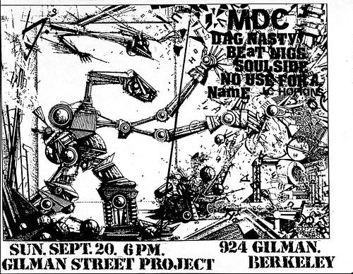 MDC-Dag Nasty-Beatnigs-Soul Side-No Use For A Name @ Berkeley CA 9-20-87