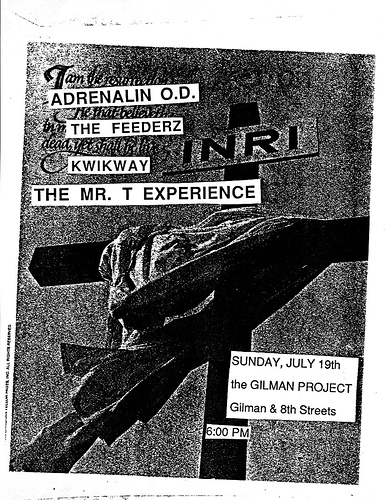 Adrenalin OD-The Feederz-Kwikway-Mr. T Experience @ Berkeley CA 7-19-87