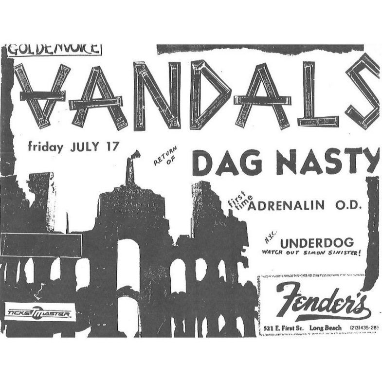 The Vandals-Dag Nasty-Adrenalin OD-Underdog @ Long Beach CA 7-17-87