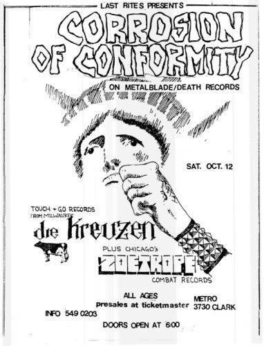 Corrosion Of Conformity-Die Kreuzen-Zoetrope @ Chicago IL 10-12-87