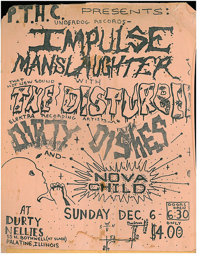 Impulse Manslaughter-The Disturbed-Dirty Dishes-Nova Child @ Palatine IL 12-6-87