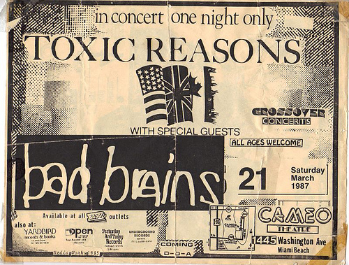 Toxic Reasons-Bad Brains @ Miami FL 3-21-87