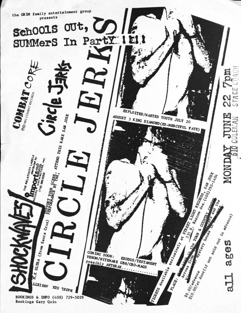 Circle Jerks @ San Jose CA 6-22-87
