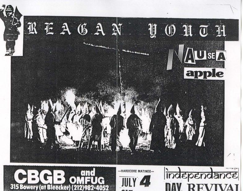Reagan Youth-Nausea-Apple @ New York City NY 7-4-87