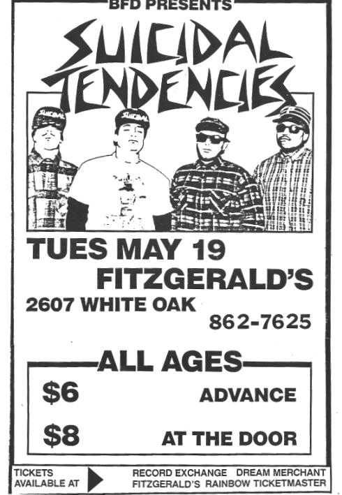 Suicidal Tendencies @ Houston TX 5-19-87
