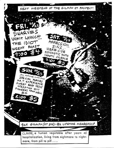 Gilman St. October 1987
