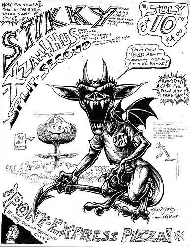 Stikky-Xzanthus-Split Second @ Redwood City CA 7-10-87