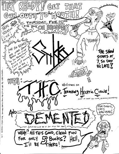 Stikky-Thrashing Hecktic Circle-Demented @ San Francisco CA 2-12-87
