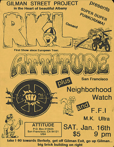 RKL-Attitude-Neighborhood Watch-MK Ultra @ Berkeley CA 1-16-87