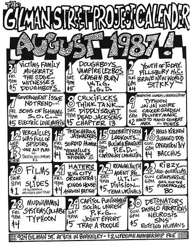 Gilman St. August 1987