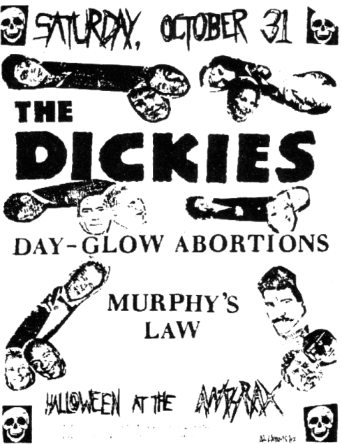 The Dickies-Dayglo Abortions-Murphy's Law @ Norwalk CT 10-31-87