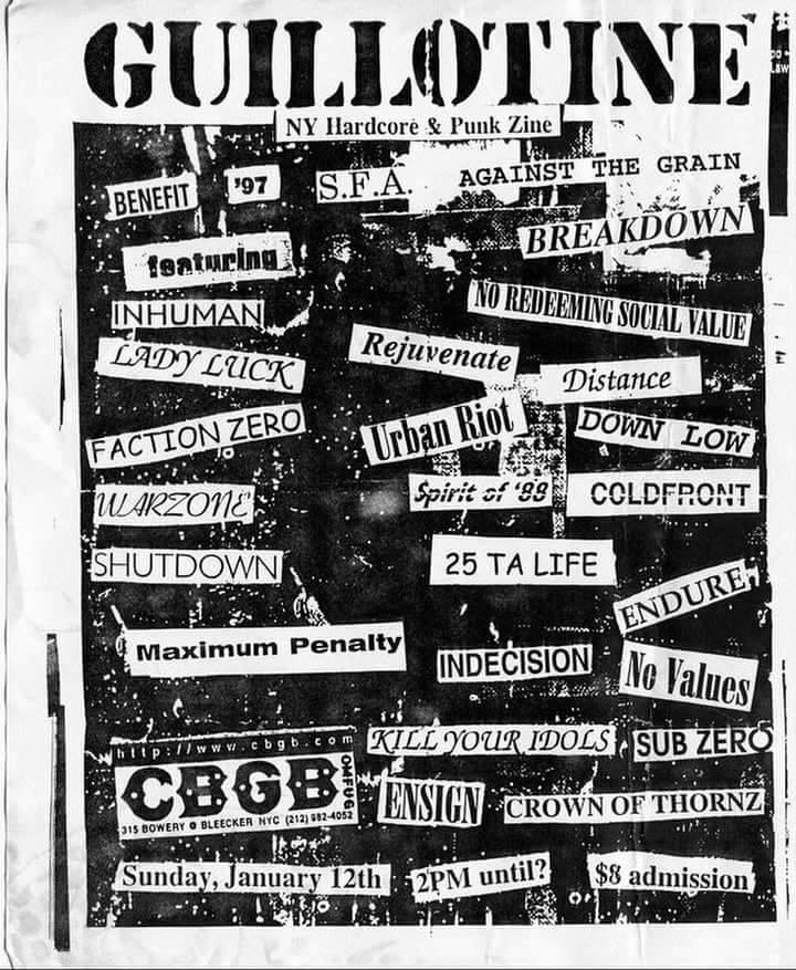 Guillotine Fanzine Benefit 1-12-97