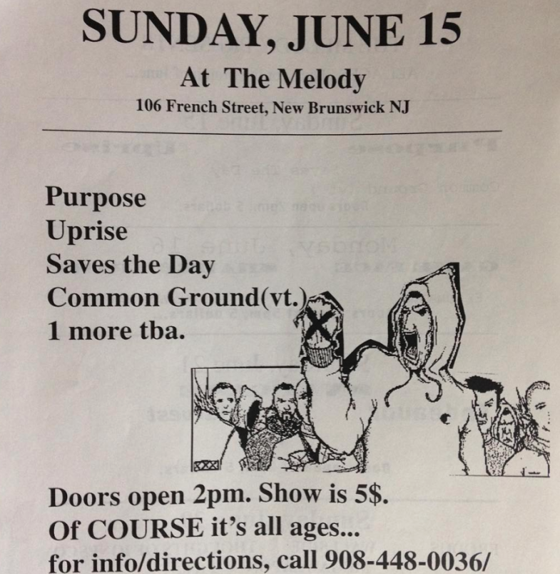 The Purpose-Uprise-Saves The Day-Common Ground @ New Brunswick NJ 6-15-97