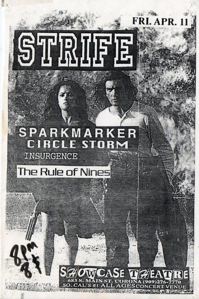 Strife-Sparkmarker-Circle Storm-Insurgence-The Rule Of Nines @ Corona CA 4-11-97