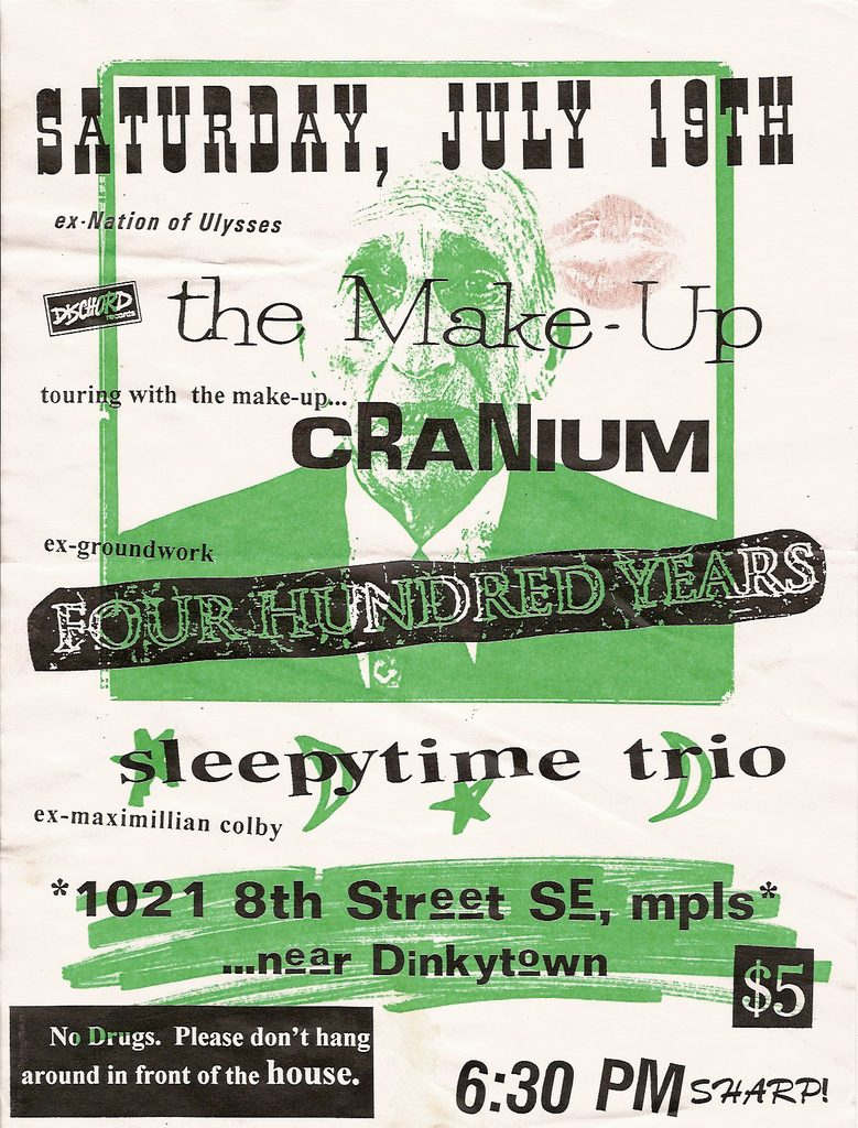 The Make Up-Cranium-Four Hundred Years-Sleepytime Trio @ Minneapolis MN 7-19-97