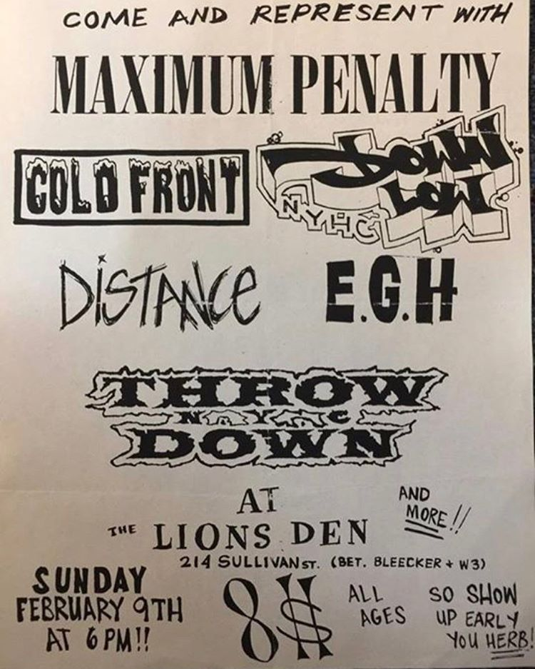Maximum Penalty-Cold Front-Down Low-Distance-Everybody Gets Hurt-Throwdown @ New York City NY 2-9-97