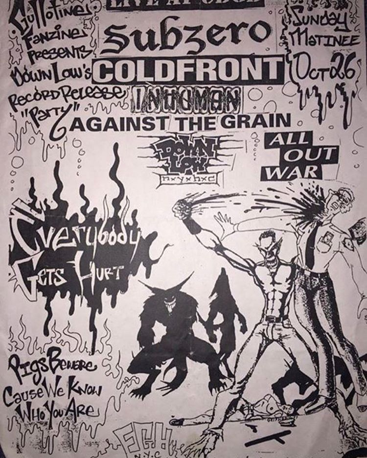 Sub Zero-Cold Front-Inhuman-Against The Grain-Down Low-All Out War-Everybody Gets Hurt @ New York City NY 10-26-97