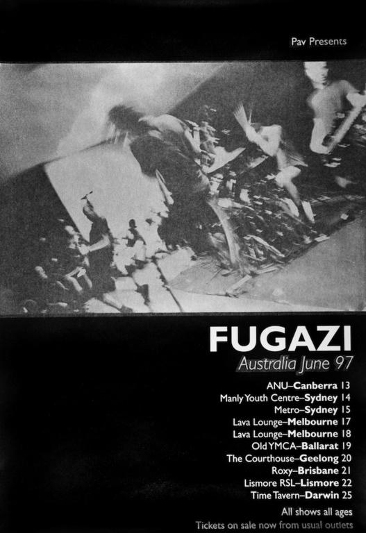 Fugazi Australian Tour 1997