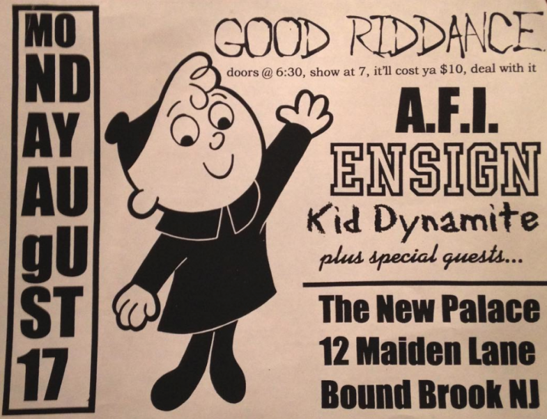 Good Riddance-AFI-Ensign-Kid Dynamite @ Bound Brook NJ 8-17-97