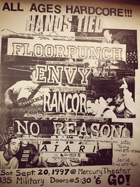 Hands Tied-Floorpunch-Envy-Rancor-No Reason-Atari @ Buffalo NY 9-20-97