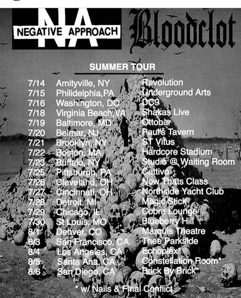 Negative Approach-Bloodclot Tour 2017