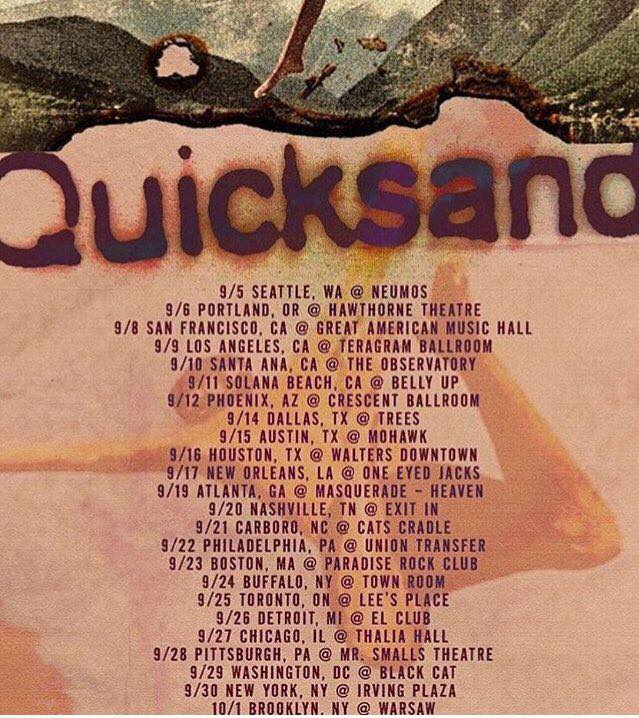 Quicksand Tour 2017