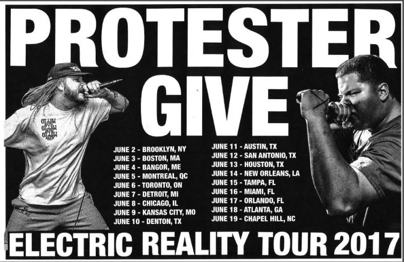 Protester-Give Tour 2017