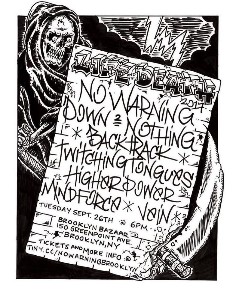 No Warning-Down To Nothing-Backtrack-Twitching Tongues-Higher Power-Mind Force-Vein @ Brooklyn NY 9-26-17