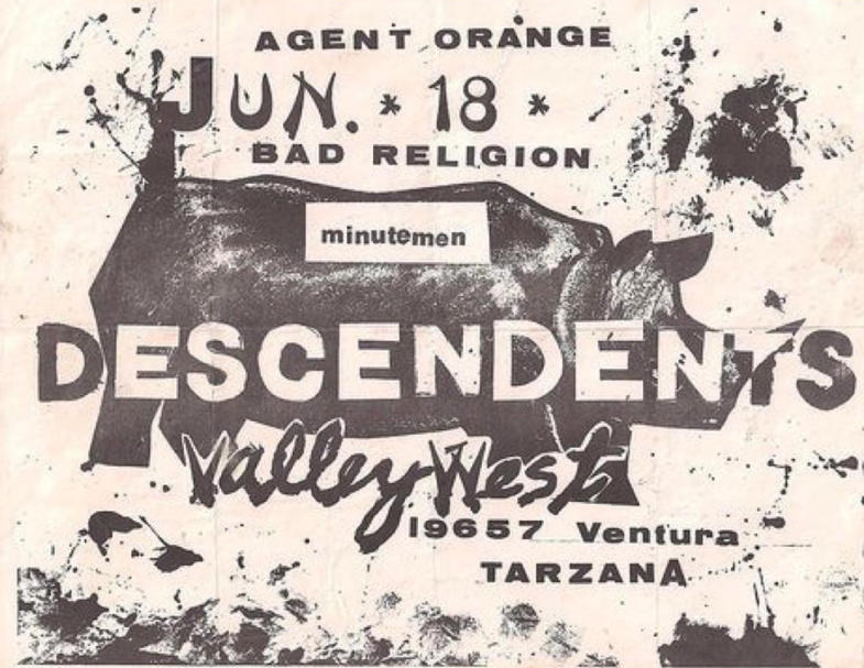 Bad Religion-Descendents-Minutemen @ Tarzana CA 6-18-UNKNOWN YEAR
