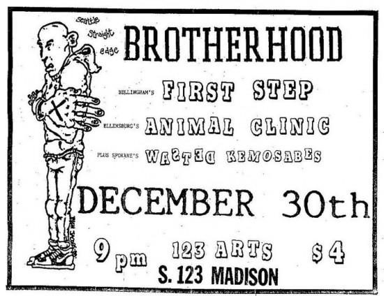 Brotherhood-First Step-Animal Clinic-Wasted Kemosabes @ Seattle WA 12-30-88
