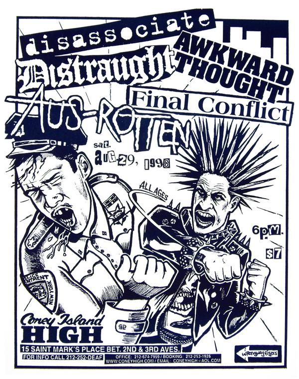 Disassociate-Distraught-Awkward Thought-Final Conflict-Aus Rotten @ New York City NY 8-29-98