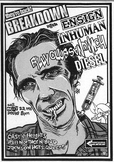 Breakdown-Ensign-Inhuman-Billy Club Sandwich-Diesel @ New York City NY 5-23-98