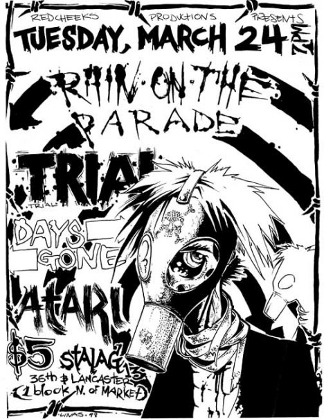 Rain On The Parade-Trial-Days Gone-Atari @ Philadelphia PA 3-24-98