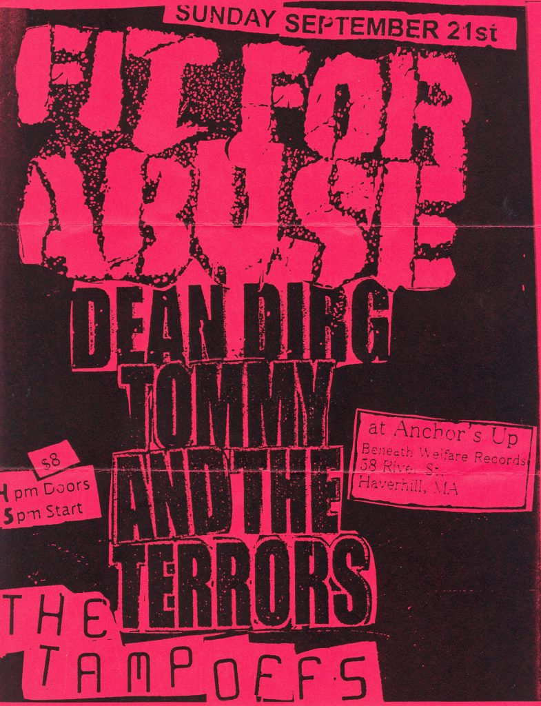 Fit For Abuse-Dean Dirg-Tommy & The Terrors-The Tampoffs @ Haverhill MA 9-21-08
