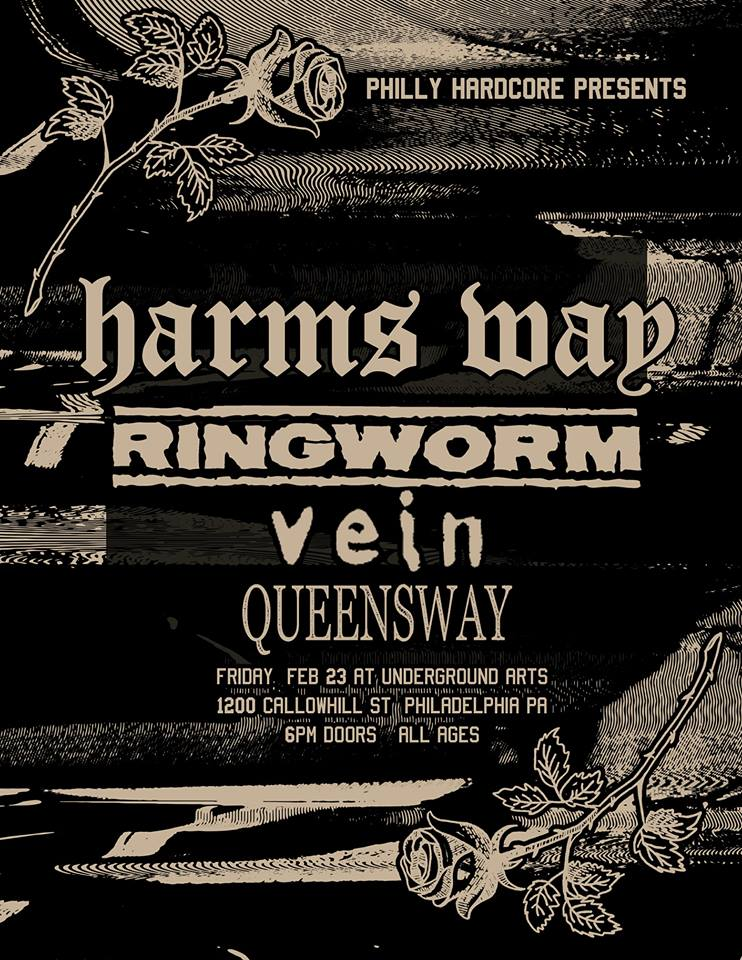Harms Way-Ringworm-Vein-Queensway @ Philadelphia PA 2-23-18