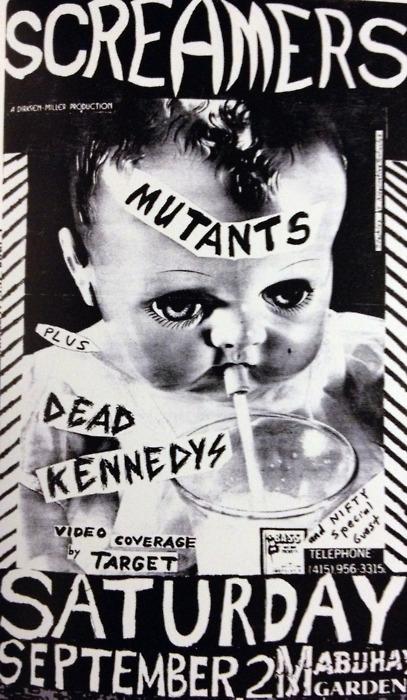 Screamers-Mutants-Dead Kennedys @ San Francisco CA 9-2-78