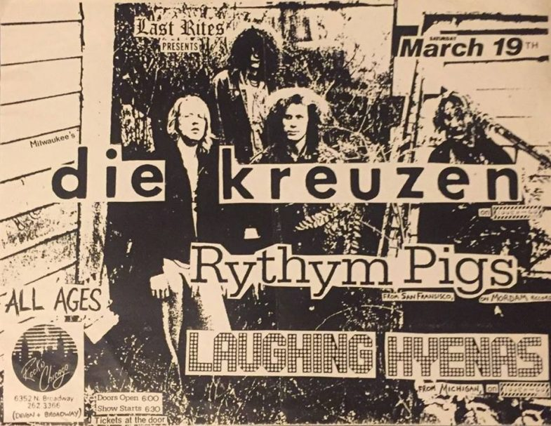Die Kreuzen-Rhythm Pigs-Laughing Hyenas @ Chicago IL 3-19-88