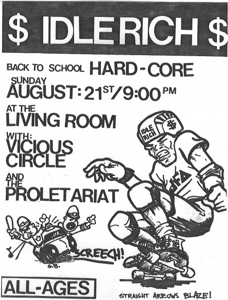 Idle Rich-Vicious Circle-The Proletariat @ Providence RI 8-21-88