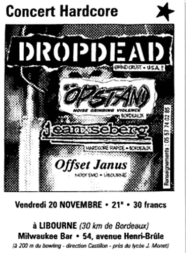 DropDead-Opstand-Offset Janus @ Paris France 11-20-98