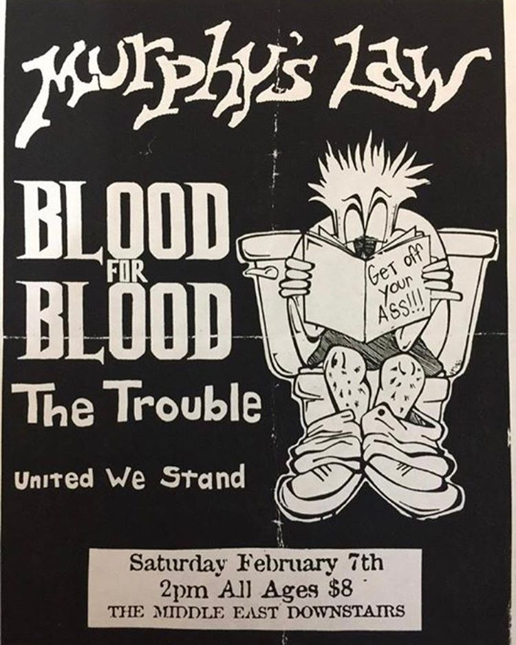 Murphy's Law-Blood For Blood-The Trouble-United We Stand @ Boston MA 2-7-98