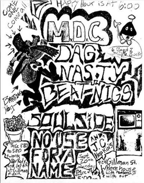 MDC-Dag Nasty-Beatnigs-Soul Side-No Use For A Name @ Berkeley CA 9-20-87